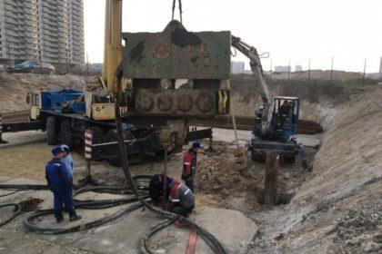 Подготовка площадки и монтаж шпунта Ларсена  vl606a